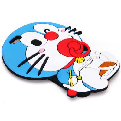 ФОТО Fashionable Doraemon Pattern Silicone Material Back Cover Case for iPhone 6  -  4.7 inches