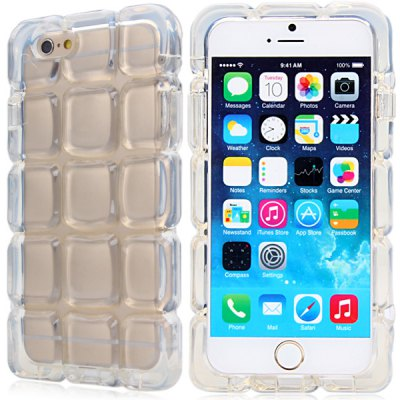 Fashionable Grid Design Transparent TPU Material Back Cover Case for iPhone 6  -  4.7 inchesiPhone Cases/Covers<br>Fashionable Grid Design Transparent TPU Material Back Cover Case for iPhone 6  -  4.7 inches<br><br>Compatible for Apple: iPhone 6<br>Features: Back Cover<br>Material: TPU<br>Style: Special Design, Transparent<br>Color: Purple, Black, White, Blue<br>Product weight : 0.068 kg<br>Package weight : 0.120 kg<br>Product size (L x W x H): 14.7 x 7.5 x 1.2 cm / 5.8 x 2.9 x 0.5 inches<br>Package size (L x W x H) : 17 x 9 x 3 cm<br>Package contents: 1 x Case