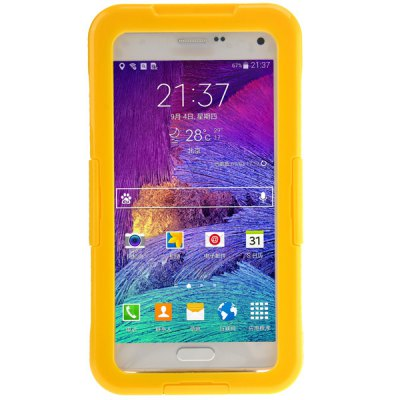 Practical Transparent Waterproof Plastic and TPE Protective CaseCases &amp; Leather<br>Practical Transparent Waterproof Plastic and TPE Protective Case<br><br>Compatible for Sumsung: Galaxy Note 4<br>Features: Full Body Cases<br>Material: Plastic, TPE<br>Style: Special Design<br>Color: Red, White, Blue, Yellow, Black, Pink<br>Functions: Against water/dust/dirt/sand<br>Using Conditions: Boat, Swimming, Beach, Diving, Cruise, Water skiing, Skiing, Water sports, On the pool, Rafting<br>Product weight: 0.098 kg<br>Package weight: 0.130 kg<br>Product size (L x W x H) : 18 x 9.7 x 1.4 cm / 7.1 x 3.8 x 0.6 inches<br>Package size (L x W x H): 21 x 12 x 2.5 cm<br>Package Contents: 1 x Waterproof Case, 1 x Lanyard