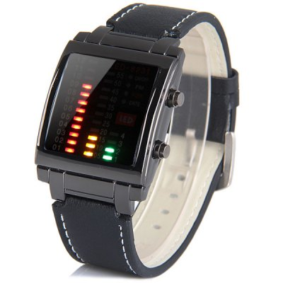 TVG 8231 LED Watch Week Date Rectangle Dial Leather WatchbandSports Watches<br>TVG 8231 LED Watch Week Date Rectangle Dial Leather Watchband<br><br>People: Unisex table<br>Style: Fashion&amp;Casual, LED<br>Color: White, Black<br>Shape of the dial: Rectangle<br>Movement type: Light table<br>Display type: LED lamp<br>Case material: Metal<br>Band material: Leather<br>Clasp type: Pin buckle<br>Special features: Week, Date, Light<br>Water Resistance: Life water resistant<br>Battery type: CR2032<br>The dial thickness: 1.2 cm / 0.5 inches<br>The dial diameter: 3.5 cm  / 1.4 inches<br>The band width: 2.2 cm / 0.9 inches<br>Product weight: 0.065 kg<br>Product size (L x W x H) : 27 x 3.5 x 1.2 cm / 10.6 x 1.4 x 0.5 inches<br>Package contents: 1 x Watch