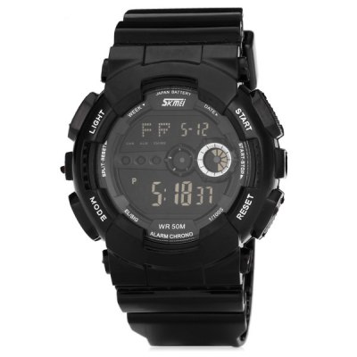 Skmei 1026 LED Sports Military WatchSports Watches<br>Skmei 1026 LED Sports Military Watch<br><br>Brand: Skmei<br>People: Unisex table<br>Watch style: Military, Outdoor Sports, LED, Fashion&amp;Casual<br>Available color: Orange, Black, Green<br>Shape of the dial: Round<br>Movement type: Digital watch<br>Display type: Numbers<br>Band material: PVC Plastic<br>Clasp type: Pin buckle<br>Special features: Day, Date, Week, Stopwatch<br>Water Resistance: 50 meters<br>Battery type: CR2025<br>The dial thickness: 1.5 cm / 0.6 inches<br>The dial diameter: 4.5 cm / 1.8 inches<br>The band width: 2.2 cm / 0.9 inches<br>Product weight: 0.06 kg<br>Product size (L x W x H) : 26.2 x 4.5 x 1.5 cm / 10.3 x 1.8 x 0.6 inches<br>Package contents: 1 x Watch