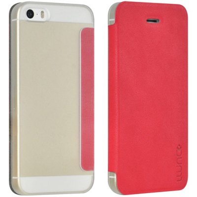 Practical Plastic and PU Protective Cover Case for iPhone 5 5S