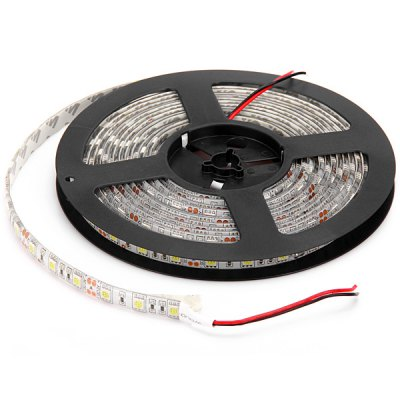 72W 5M 300 SMD - 5050 LEDs Water - resistant Flexible White Light Strip LampLED Strips<br>72W 5M 300 SMD - 5050 LEDs Water - resistant Flexible White Light Strip Lamp<br><br>Light Color: Warm White, RGB, Cold White<br>Voltage (V): DC12<br>Features: Low Power Consumption, IP-65<br>Length (m): 5M<br>Number of LEDs: 300 x SMD-5050 LEDs<br>Product weight: 0.224 kg<br>Package weight: 0.27 kg<br>Product size (L x W x H): 16.6 x 16.6 x 2 cm / 6.54 x 6.54 x 0.79 inches<br>Package size (L x W x H): 21.5 x 20.5 x 3 cm<br>Package Contents: 1 x 5M SMD-5050 Water-resistant LEDs Water-resistant Strip Light