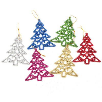 Гаджет   New Small Festival Spraying Christmas Tree Shaped Topper for New Year (6 pcs) Christmas Supplies