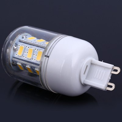 G9 10W 24 SMD - 5630 900Lm LED Bulb Warm White 110V Corn Lamp (3000 - 3200K)LED Light Bulbs<br>G9 10W 24 SMD - 5630 900Lm LED Bulb Warm White 110V Corn Lamp (3000 - 3200K)<br><br>Base Type: G9<br>Type: Corn Bulbs<br>Output Power: 10W<br>Emitter Type: SMD-5630 LED<br>Total Emitters: 24 LEDs<br>Actual Lumen(s): 900Lm<br>Voltage (V): AC 110<br>Features: Long Life Expectancy, Energy Saving, Low Power Consumption<br>Function: Home Lighting, Commercial Lighting, Studio and Exhibition Lighting<br>Available Light Color: Cold White, Warm White<br>Sheathing Material: Plastic<br>Product Weight: 0.021 kg<br>Package Weight: 0.04 kg<br>Product Size (L x W x H): 6.9 x 2.9 x 2.9 cm / 2.72 x 1.14 x 1.14 inches<br>Package Size (L x W x H): 8 x 4 x 4 cm<br>Package Contents: 1 x G9 10W 110V SMD-5630 Corn Light