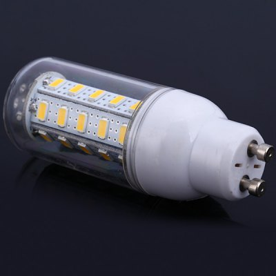 12W SMD 5630 36 - LEDs GU10 1100LM Warm White LED Corn Bulb with Transparent CoverLED Light Bulbs<br>12W SMD 5630 36 - LEDs GU10 1100LM Warm White LED Corn Bulb with Transparent Cover<br><br>Base Type: GU10<br>Type: Corn Bulbs<br>Output Power: 12W<br>Emitter Type: SMD-5630 LED<br>Total Emitters: 36 LEDs<br>Actual Lumen(s): 1100Lm<br>Voltage (V): AC 110<br>Appearance: Transparent Cover<br>Features: Long Life Expectancy, Energy Saving, Low Power Consumption<br>Function: Home Lighting, Commercial Lighting, Studio and Exhibition Lighting<br>Available Light Color: Warm White, Cold White<br>Sheathing Material: Plastic<br>Product Weight: 0.027 kg<br>Package Weight: 0.05 kg<br>Product Size (L x W x H): 8.8 x 2.9 x 2.9 cm / 3.46 x 1.14 x 1.14 inches<br>Package Size (L x W x H): 10 x 4 x 4 cm<br>Package Contents: 1 x GU10 12W 110V SMD-5630 Corn Light