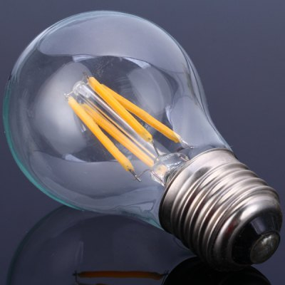 A55E27 - 4C2 E27 Based 3.5W Warm White LED Tungsten Light Filament Globe Bulb (350Lm)
