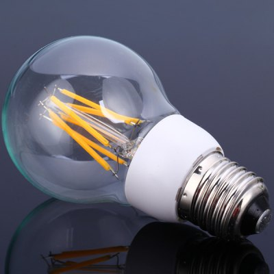 A60E27 - 6PC2 E27 Based 6W Warm White LED Tungsten Light Filament Globe Bulb (570Lm)