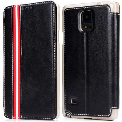 ФОТО PU Leather and Plastic Material Cover Case for Samsung Galaxy Note4 N9100