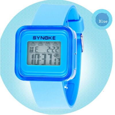 Synoke LED Sports Watch Student's Wristwatch with Week Date Alarm