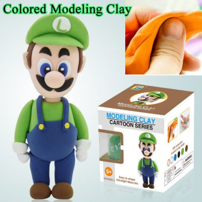 Green Super Mario Colored Modeling Clay Toy