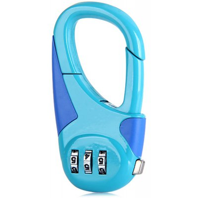 Resettable Three Digits Suitcase Lock Luggage Padlock Outdoor Travel Gadget