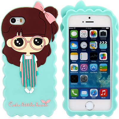 Гаджет   Fashionable 3D Cartoon Zoey Silicone Back Cover Case for iPhone 5 / 5S iPhone Cases/Covers