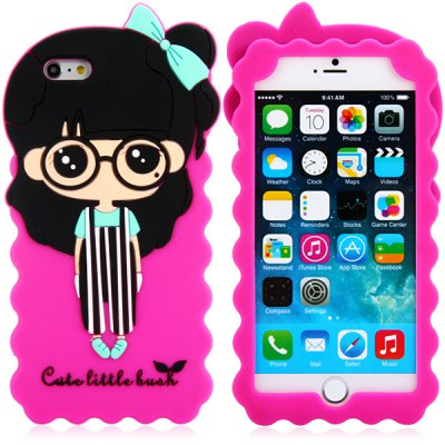 Fashionable 3D Cartoon Zoey Silicone Back Cover Case for iPhone 6 Plus  -  5.5 inches от GearBest.com INT