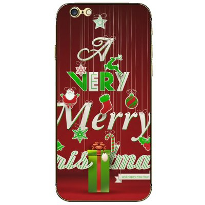ФОТО Merry Christmas Pattern Design Phone Decal Skin Protective Full Body Sticker for iPhone 6  -  4.7 inches
