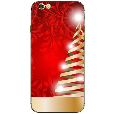 ФОТО Christmas Color Strip Pattern Design Phone Decal Skin Protective Full Body Sticker for iPhone 6 / 6S - 4.7 inches