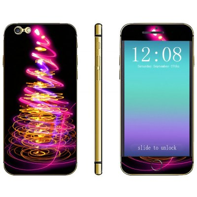 Christmas Tree Lamp Pattern Design Phone Decal Skin Protective Full Body Sticker for iPhone 6  -  4.7 inches