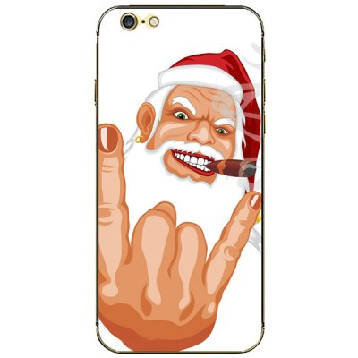 ФОТО Protective and Decorative Full Body Sticker Father Christmas Pattern Design Phone Decal Skin for iPhone 6  -  4.7 inches