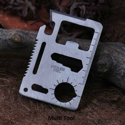 10Pcs Multi - function Outdoor Knife Saber Card Multi Tool Camping, Hiking Necessary