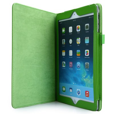 Фотография Fashionable Lichee Pattern PU Cover Case with Stand Function for iPad Air 2