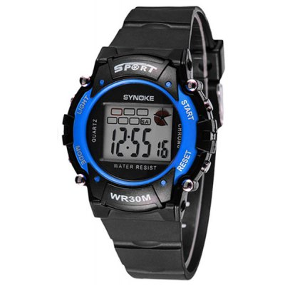 Synoke LED Digital Sports Watch 3ATM Water Resistant Week Alarm for Kids