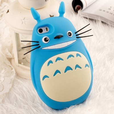 Lovely Fat Body Totoro Soft Rubber Protective Cover Case for iPhone 4 / 4S