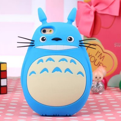 ФОТО Lovely Fat Body Totoro Soft Rubber Protective Cover Case for iPhone 4 / 4S