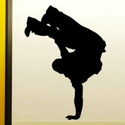 Personalised Break Dancer Music Hip Hop Wall Car Decal PVC Sticker for Bathroom Garden