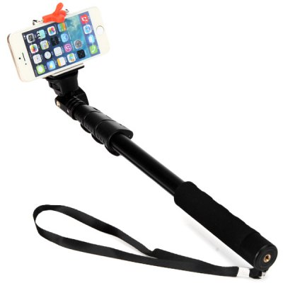 Retractable Selfie Camera Stand Monopod Unipod Phone Holder with 360 Degree Rotating for iPhone 6 / 6 Plus 5 5S 5C 4 4S Samsung HTC Sony Blackberry Nokia etc.