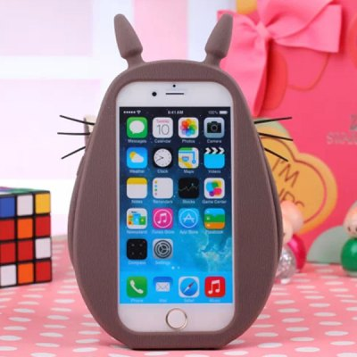 ФОТО Lovely Fat Body Totoro Soft Rubber Protective Cover Case for iPhone 5 / 5S