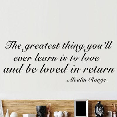Just to Love and to Be Loved in Return Wall Saying Sticker от GearBest.com INT