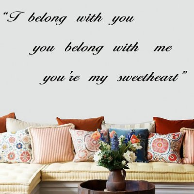 Fabulous i Belong with You Religious Quote Wall Sticker