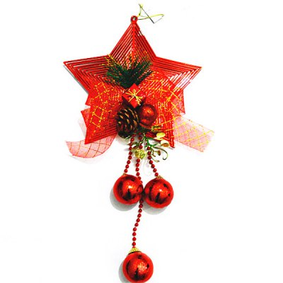 Гаджет   Christmas Spraying Pentacle Star Clock Bell Ornament Handing Decoration for Party Holiday