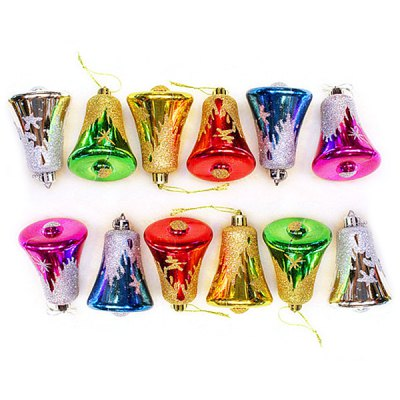 Гаджет   6 x Exquisite Christmas Multi - color Bell Ornament Christmas Tree Pendant Christmas Supplies