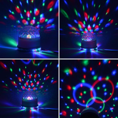 HML 18 9W Cystal Golbe RGB Stage Light and 15W 48 LEDs RGB Sunflower Light Set от GearBest.com INT
