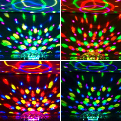 HML QS - 3628 6 x 1W LEDs Cystal Ball RGB Stage Light IR Disco Light  -  110  -  220V от GearBest.com INT