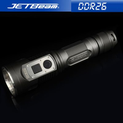 Jetbeam DDR26 Cree XM - L2 LED Waterproof Rechargeable Military Flashlight (1000Lm 4 Modes 1 x 18650 Battery)