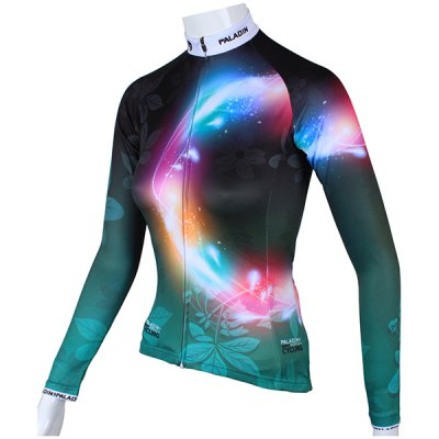 Leaves Pattern Women Cycling Suit Long Sleeve Jersey Pants Set Bike Bicycle Racing Clothes от GearBest.com INT