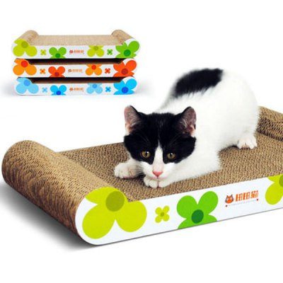 Гаджет   Portable Sunflower Series Bed Shaped Corrugated Paper Cat Grinding Scratching Claw Board Supplies