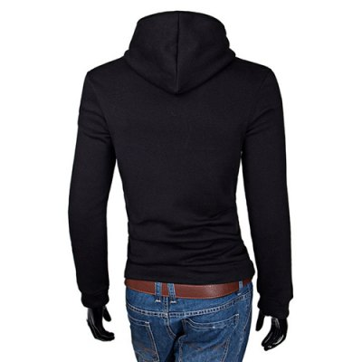 Laconic Color Splicing Slimming Fashion Hooded Design Long Sleeves Mens HoodieMens Hoodies &amp; Sweatshirts<br>Laconic Color Splicing Slimming Fashion Hooded Design Long Sleeves Mens Hoodie<br><br>Material: Cotton, Polyester<br>Clothing Length: Regular<br>Sleeve Length: Full<br>Style: Casual<br>Weight: 1KG<br>Package Contents: 1 x Hoodie