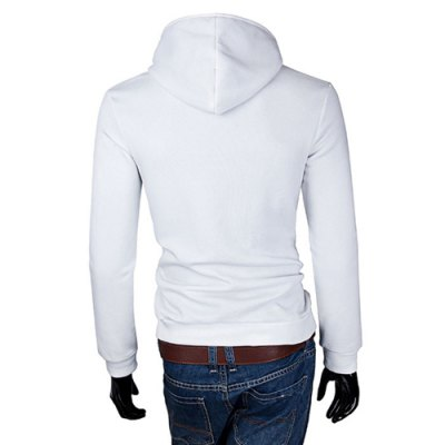 Гаджет   Laconic Color Splicing Slimming Fashion Hooded Design Long Sleeves Men