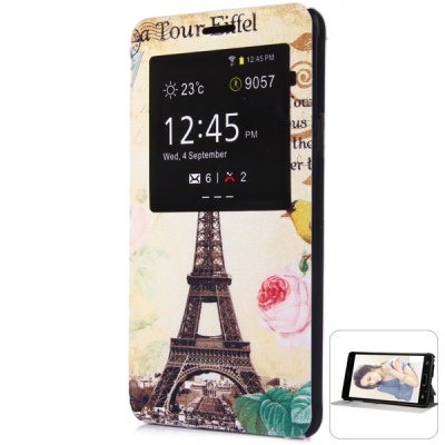 ФОТО Fashionable Eiffel Tower Pattern PC and PU Material Protective Cover Case