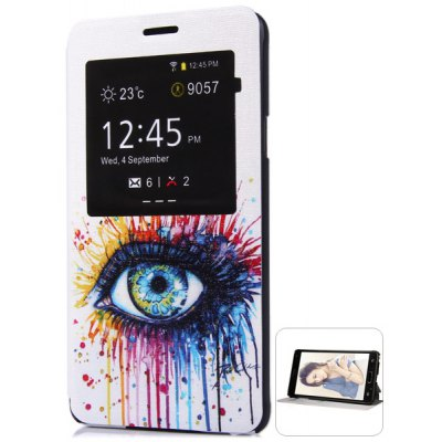 Fashionable Eye Pattern PC and PU Material Protective Cover Case