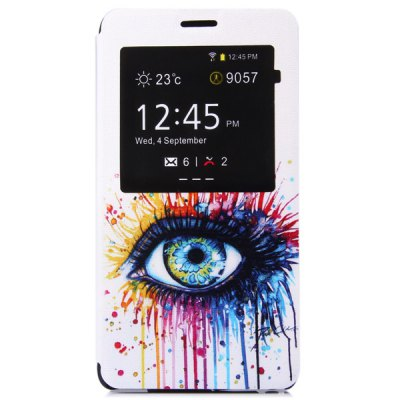 ФОТО Fashionable Eye Pattern PC and PU Material Protective Cover Case