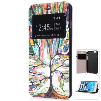 ФОТО Fashionable Colorful Tree Pattern PC and PU Material Protective Cover Case