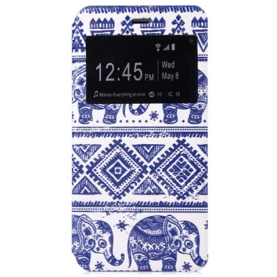 ФОТО Fashionable Elephant Pattern PC and PU Material Protective Cover Case