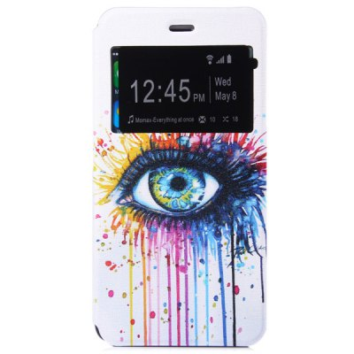 ФОТО Novelty Eye Pattern PU and PC Material Protective Cover Case