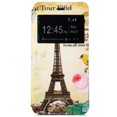 ФОТО Novelty Eiffel Tower Pattern PC and PU Material Protective Cover Case