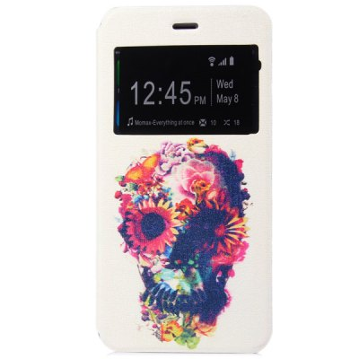 ФОТО Fashionable Skull Flower Pattern PC and PU Material Protective Cover Case
