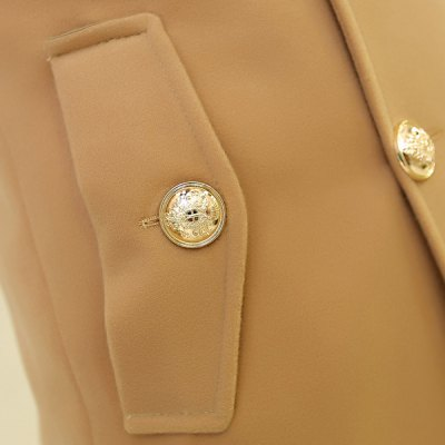 Гаджет   Stylish Turn-down Collar Slimming Solid Color Button Embellished Long Sleeves Men